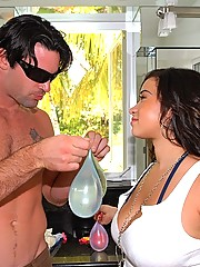 This hot chick has big natural jugs watch her get fucked by the pull