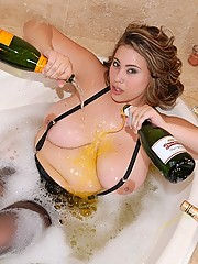 Watch beautiful big tits selina suck a cock in the bubble bath then get her pussy fucked hard and cum faced in these hot wet pics and big movie