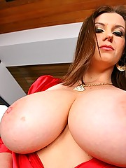 Amazing big titty sara stone gets her knockers fucked and pussy rammed hard in these hot cum shot pics