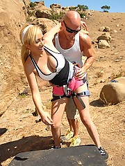 Hot amazing big tit rucca and her 2 girls take turns getting fucked hard and sucking cock after mountain climbing at 1000 feet in these hot fucking pics and video update