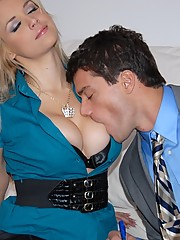 Watch hot ass big tits blonde real estate babe get her office pussy fucked hard for a house sale in these hot fucking pics