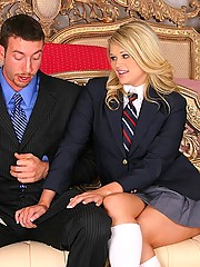 Hot 18 yo babe heather gets her hot ass pussy pounded after a day at a preppy school