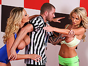 Sexy fat tit chicks get it on with the referee