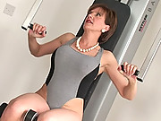 Mature sonia blows personal trainer