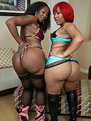 Captain Save-a-hoe fucks two big booty black chicks