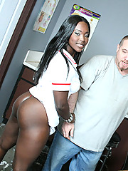 Stacked and Slutty Hershey gets a 40 poured on her ass