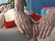 Hot 18 year old get's fucked hard and gives a massage!