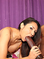Hot latina slut takes huge black meat like a champ