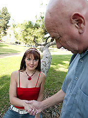 Teen whore wants to tease and fuck old man