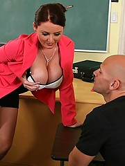 Sophie Dee getting fucked hard by her students massive cock