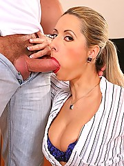 Daria Glover fucking her students huge cock in class