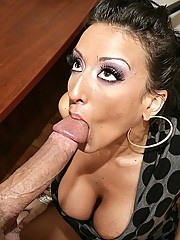 Ricki White will do anything to get the job sucking cock is a start