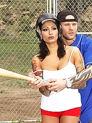 Ricki Raxxx loves man bats to baseball bats
