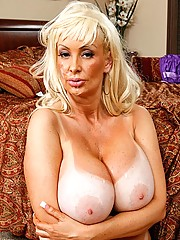 Busty Milf can tackle big cocks and Keirans cock is next in line