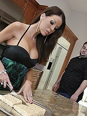 Tabitha Stevens fucking her sons tutor huge cock