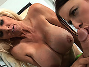 Nasty big boob sluts take a pounding!