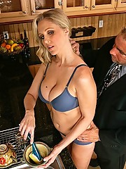 Julia Ann fucking another man besides her small dick husband