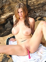 Danielle plays in the sand