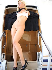 Lia 19 flying high naked on a gulfstream