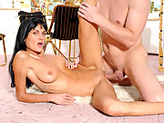 Stunning Anilos Sarah Twain gets plowed by a stiff cock
