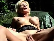 Granny gets hard fucking outdoors