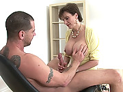 Milf lady sonia handjob and blowjob