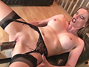 Milf holly machined to orgasm