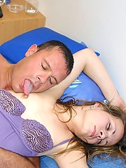 Sleeping girl getting touched and penetrated