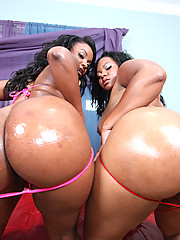 Double 0 negro fucks two hot black booty bitches