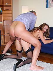 Banging a hot and willing english street slut