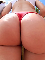 Watch these fine ass poolside bikini babes show their hot ass and tits then get nailed hard and cumfaced in this hot 3some movie and pics