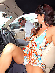 Super sexy long leg milf get her pussy rammed hard after a day at the beach and pizza restaurant