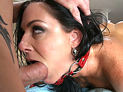 Older slut gets taped and fucked after massage!