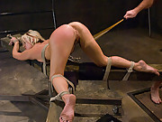 Super cute and enthusiastic girl fucked and punished in bondage.