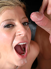 Mature blonde cougar in heat gets the young cock that she longs for