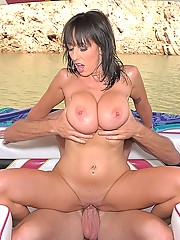 Hot ass bikini babe alia gets her mega knockers rocked and her juice box banged hard after a fast ride on the boat in these hot pics and big hd video