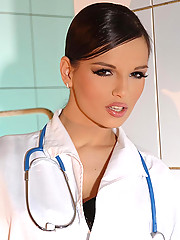 Doctor lady Eve Angel examining slut Jeny Baby