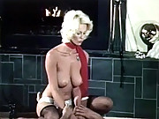 Horny vintage blonde babe fucking and blowjob