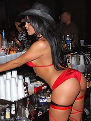 Check out these hot club babes get their pussies fucked on the bar and strippers sucking dick in the backroom