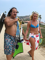 Blonde Teen Addison Fucks Ron Jeremy's Old cock!