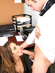 Jenna Haze nasty in the office fucking and sucking off co-worker