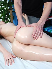 Hot 18 year old fucked hard by her massage therapist
