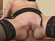 Lusty babe Roxy Panther getting fucked hard in sexy lingerie