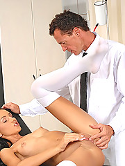 Young Sasha Rose gets examined, licked & fucked by doctor