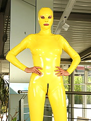 Crazyfetishpass rubber Latexyellow