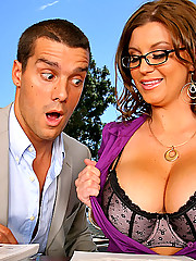 Super hot big titty exec babe sara stone takes care of her clients needs with a titty and pussy fuck in her lawyers office in these hot pics and big hd movie