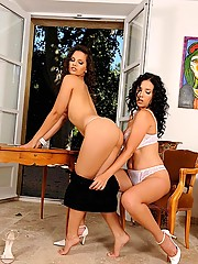 Hot horny lesbians Eve Angel & Jelena Jensen having sex