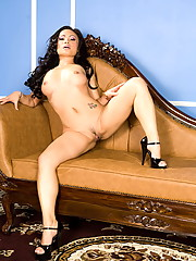 Mya Luanna makes love to her love seat
