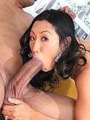Asian Milf Tia Lang Messy With Cum After Hard Fuck
