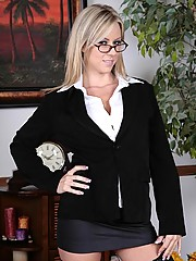 Carolyn Reese in black stockings